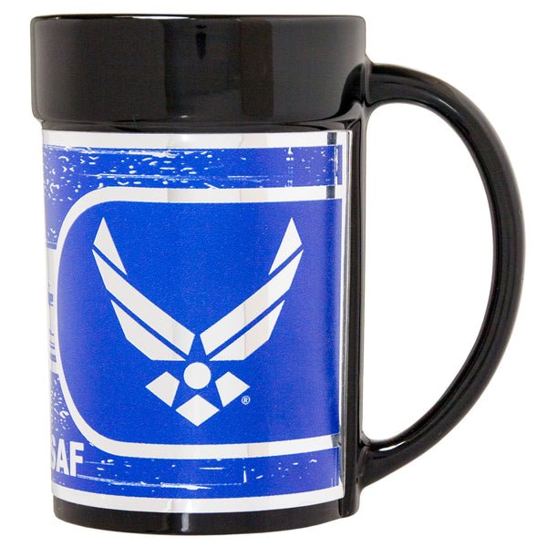 Air Force Ceramic Mug - Military 15oz Coffee Mug with Metallic Wrap - Star Spangled 1776