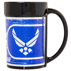 Air Force Ceramic Mug - Military 15oz Coffee Mug with Metallic Wrap