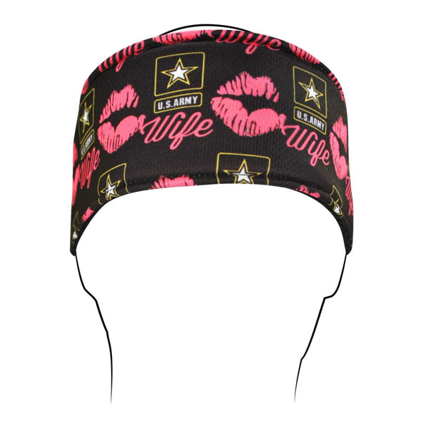 Army Wife Kisses Polyester Headband - Star Spangled 1776