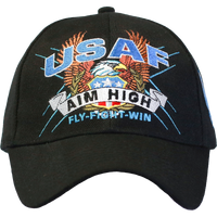 U.S. Air Force Black Slogan Baseball Cap - Star Spangled 1776