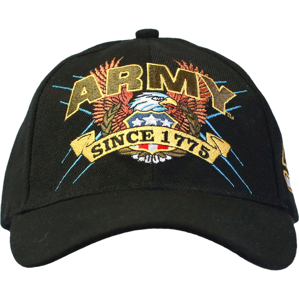 U.S. Army Black Slogan Baseball Cap - Star Spangled 1776