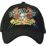 U.S. Navy Black Slogan Baseball Cap - Star Spangled 1776