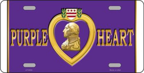 Purple Heart Military Metal License Plate