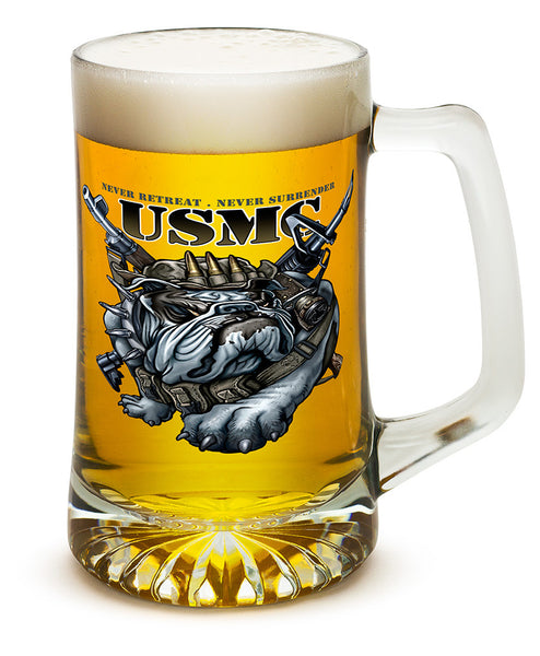 25 Ounces Tankard Never Retreat Never Surrender Marine Corps - Star Spangled 1776