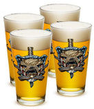 16 Ounces Pint Glass Once And Always A Marine - Star Spangled 1776