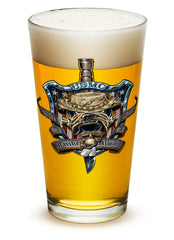 16 Ounces Pint Glass Once And Always A Marine