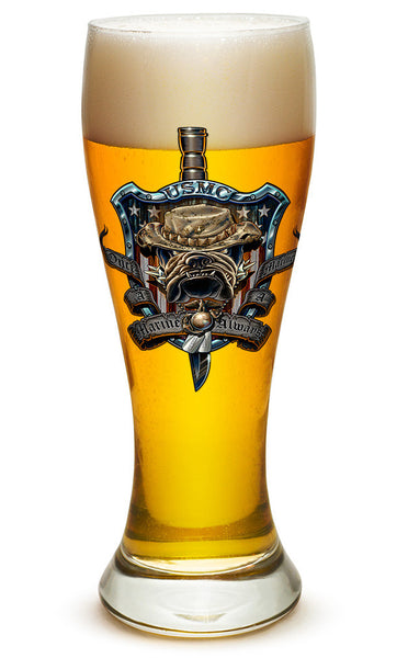 23 Ounces Pilsner Glass Once And Always A Marine - Star Spangled 1776