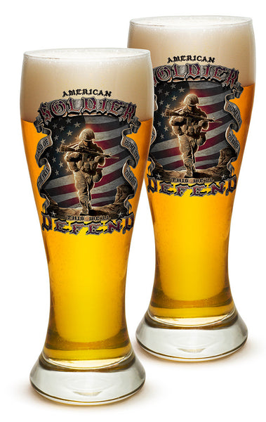 23 Ounces Pilsner Glass American Soldier - Star Spangled 1776