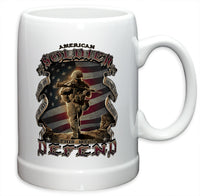 20 Ounces Stoneware American Soldier - Star Spangled LLC