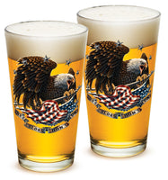 16 Ounces Pint Glass These Colors Dont Run - Star Spangled 1776