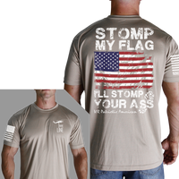 I'll Stomp You T-Shirt - Nine Line Men's Tan Patriotic Tee Shirt - Star Spangled 1776