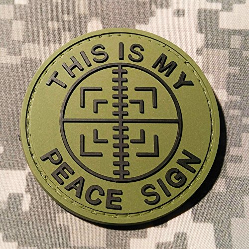 This Is My Peace Sign OD Green PVC Morale Patch