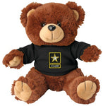 U.S. Army Star Logo DEMB on Black T-Shirt on Stuffed Plush Bear - Star Spangled LLC