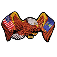 U.S. Air Force and United States Flag Eagle 4X6 Inch Patch - Star Spangled 1776