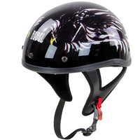 R100 Glossy Flying Eagle Graphic Half Helmet - Star Spangled 1776