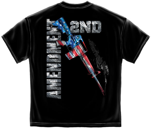 AR15 Second Amendment Flag T-Shirt- Men's Short Sleeve Tee Shirt - Star Spangled LLC