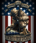 Remember Their Sacrifice 50 X 60 Fleece Throw Blanket - Star Spangled LLC