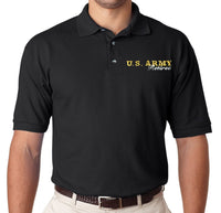 Army Retired Black Polo Shirt - Star Spangled LLC