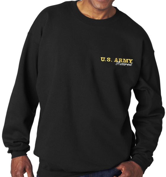Army Retired Black Sweatshirt - Star Spangled LLC