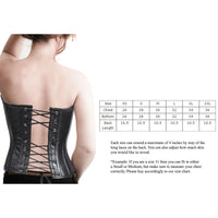 Women's Strapless Lamb Leather Corset With Metal Busks & Grommets - Star Spangled LLC