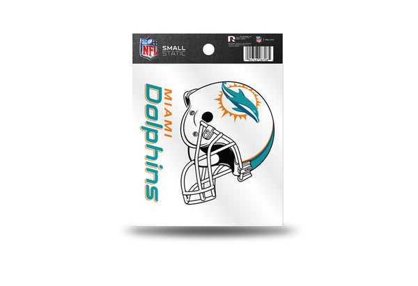 Miami Dolphins NFL Team 3.5 X 3.75 Small Re-usable Static Cling Decal - Star Spangled 1776