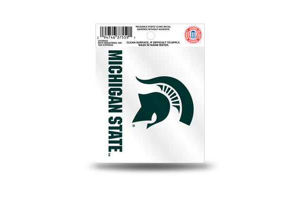 Michigan State Spartans NCAA Football Team 3.5 X 3.75 Small Re-usable Static Cling Decal - Star Spangled 1776