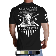 Washington T-Shirt- Nine Line Men's Short Sleeve Tee Shirt - Star Spangled 1776