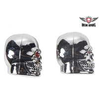Chrome Skulls Valve Caps (2 Pk)