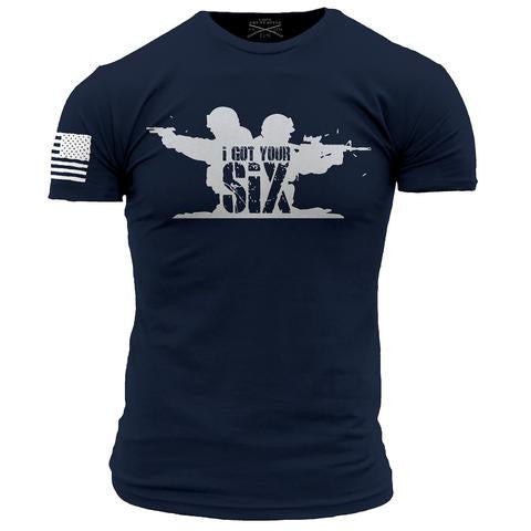 Walk Into Hell T-Shirt- Grunt Style Enlisted Nine Tee Shirt - Star Spangled 1776 - 1