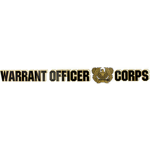 Warrant Officer Corps Window Strip Decal - Star Spangled 1776