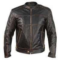Men's 'Boone Charcoal' Dark Brown Leather Jacket - Star Spangled LLC