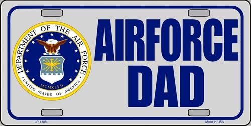 Air Force Dad 6 X 12 Metal Military License Plate