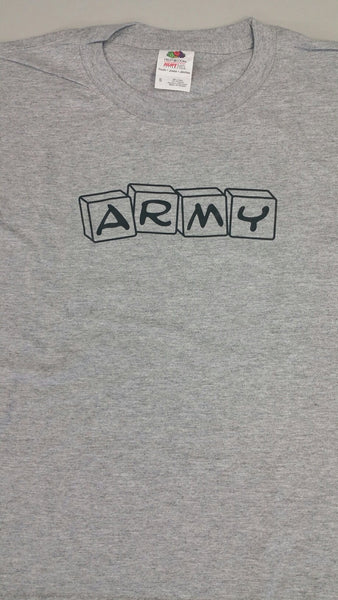 Army Building Blocks Toddler Gray T-Shirt - Star Spangled LLC