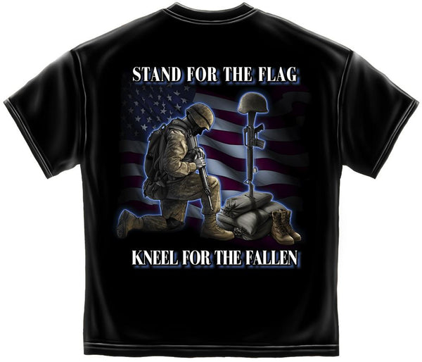 Stand for the Flag Cotton T-Shirt- Black