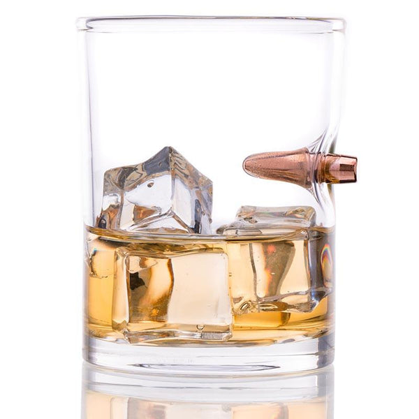 .308 Real Bullet Hand Blown Whiskey Glass