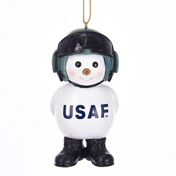 U.S. Air Force Snowman Military Ornament - Star Spangled 1776