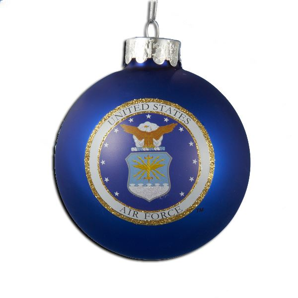 U.S. Air Force Glass Ball Military Ornament - Star Spangled 1776