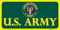 Army Green 6 X 12 Metal Military License Plate
