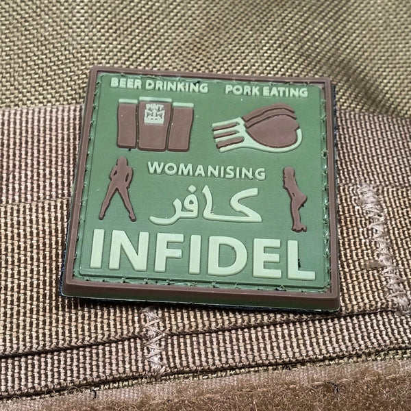 All Around Infidel OD Green PVC Morale Patch