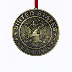 Army Crest Military Christmas Ornament