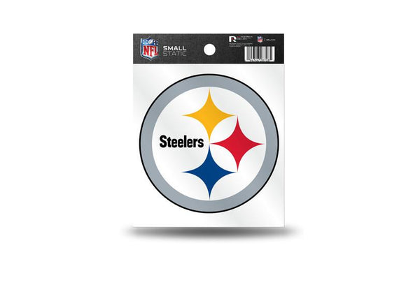 Pittsburgh Steelers NFL Team 3.5 X 3.75 Small Re-usable Static Cling Decal