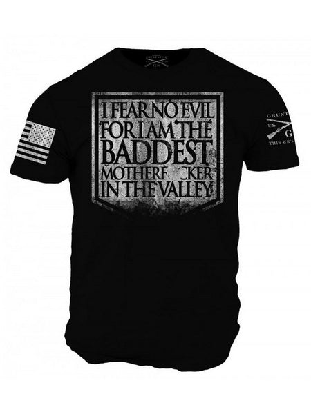 Fear No Evil T-Shirt- Grunt Style Men's Graphic Military Tee Shirt - Star Spangled 1776