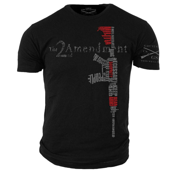 2nd Amendment T-Shirt- Grunt Style Men's Graphic Military Tee Shirt - Star Spangled 1776
