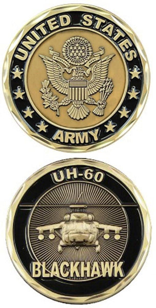 US Army UH-60 Blackhawk Army Challenge Coin