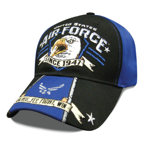 Air Force Eagle Scream Embroidered Baseball Cap