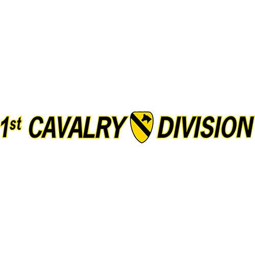 1st Cavalry Division Window Strip Decal
