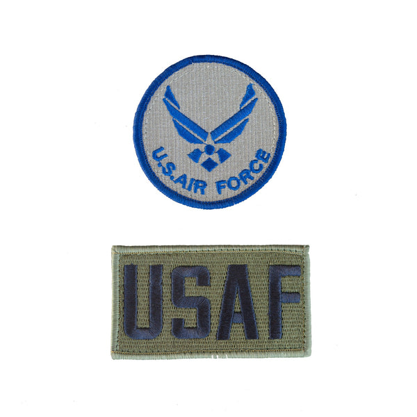 2 Pack Patch Set For Flight Suit AIR FORCE