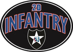 Army 2nd Infantry Division Magnet