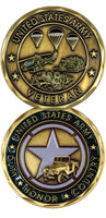 U.S. Army Veteran Star Duty Honor Country Challenge Coin