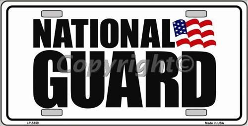 National Guard Metal Military License Plate